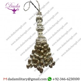 17cms Silver Tassel With Acorns