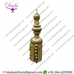 20 Cm Gold Gold And Silver Tassel