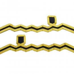 Cuff Rank Sleeve Cuff Curls Lieutenant Navy Gold Wire Wavy Curl & 2 Bars