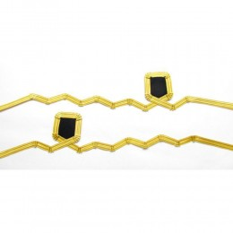 Cuff Rank Sleeve Cuff Curls Sub-Lieutenant Navy Gold Wire Wavy Curl