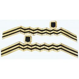 Cuff Rank Sleeve WW2 RNVR & Sea Cadet Commander Sleeve Lace