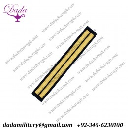 2 bars gold Cuff Rank Sleeve