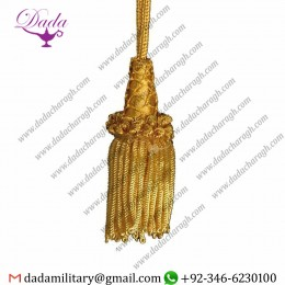 Bullion Cord Tassel Metallic Thread And Viscose For Liturgical Stole