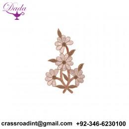 4 Flower Mulish Work and dabbka Detailing Hand Work Patch