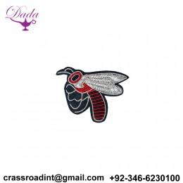 HAND Embroidery Brooch Bee Custom Design Brooch Pin
