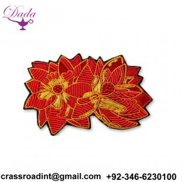 HAND Embroidery Brooch Flowers Custom Design Brooch Pin