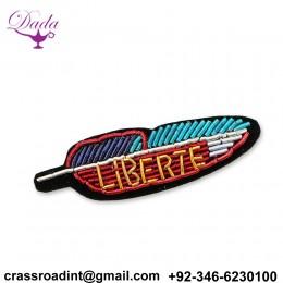 HAND Embroidery Brooch Leaf Custom Design Brooch Pin