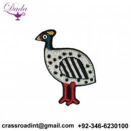 African Hen brooch hand embroidery brooch badges Bullion wire fashion jacket