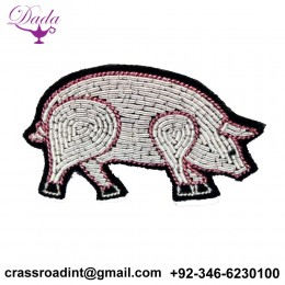 Animal brooch Hand Embroidery Brooch Bullion Wire Cap Badges Breast pin
