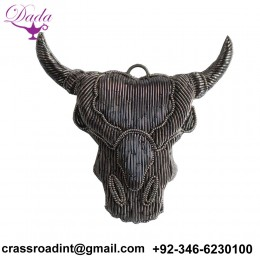 Animal head Fashion Applique brooch Patch Beaded Applique Accessories Dress Appliques motif Handcrafted Applique