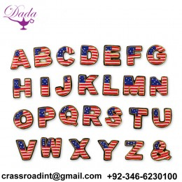 A to Z letter Customized Bullion wire brooch pin hand embroidery brooch badges Bullion wire fashion jacket