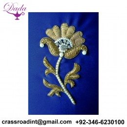 Beaded Bullion wire brooch pin hand embroidery brooch badges Bullion wire fashion