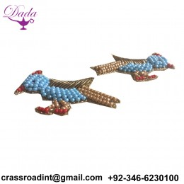 beaded Scree brooch hand embroidery  Indian silk badges brooch decorative pins simple brooch
