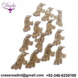 Beautiful Bird Applique Patch Beaded Applique Accessories Dress Appliques Handcrafted Applique
