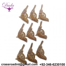 Beautiful Gun Applique Patch Beaded Applique Accessories Dress Appliques Handcrafted Applique