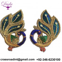 Beautiful Peacock Patches for Blouse side sleeves, Back Design, festival, designer blouse