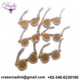 Beautiful Spectacles Applique Patch Beaded Applique Accessories Dress Appliques Handcrafted Applique