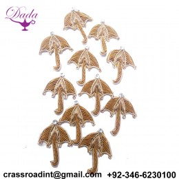Beautiful Umbrella Applique Patch Beaded Applique Accessories Dress Appliques Handcrafted Applique