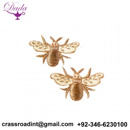 Bee Scree brooch hand embroidery  Indian silk badges brooch decorative pins simple brooch