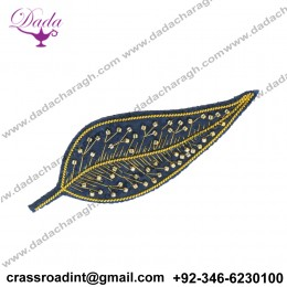 coerce scare brooch hand embroidery brooch badges Bullion wire fashion jacket Indian China embroidered patche