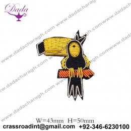 Brooch clothes bag accessories Indian silk hand-embroidered cartoon starling fun