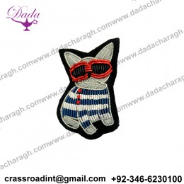 Cartoon Handmade India Bullion Wire Embroidery Patch for Brooch