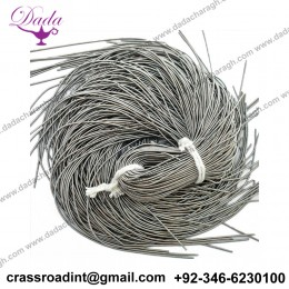 1MM , Kora, Matte Finish Bullion Wire, French Wire, Metallic Wire in Grey Color