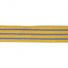 20 mm Infantry Sling Lace Gold Blue Mylar Braid Lace For Army, Military, Uniform