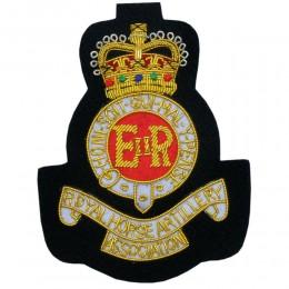 (RHA) Royal Horse Artillery Blazer Badge Bullion Wire Hand Made Embroidery
