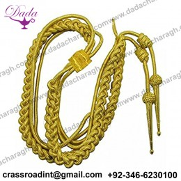Aiguillette Shoulder Gold Mylar Army Air Force Navy