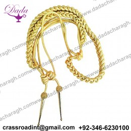 Aiguillette using Gold Wire Cord for Army, Air Force or Navy