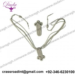Aiguillette with shoulder Board silver Mylar