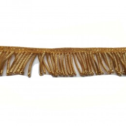 2 inches wide gold bullion wire fringe