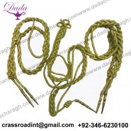 Army Aiguillette cord Military Collectables Gold Aiguilette Ceremonial miniature Parade Bag