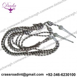 Army Aiguillette Maroon and Silver Wire Cord US Officer Military Aiguillett Navy Officer