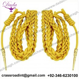 Army Dress Aiguillette Gold Nylon