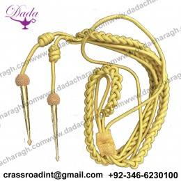 Army Officer Aiguillette Gold MylarCord,US Military British Navy Aiguillett,WWII