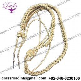 Army Officer Shoulder Aiguillette Gold Wire Gold Aiguillette Wire Cord