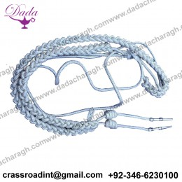 Army Officer Shoulder Aiguillette Silver Wire Silver Aiguillette Wire Cord