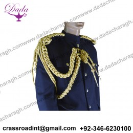 BLUES AND ROYALS - OFFICERS GOLD CORD AIGUILLETTE - RIGHT SHOULDER - HOUSEHOLD CAVALRY HCAV BRITISH ARMY