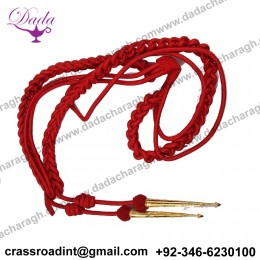 British Army Shoulder Aiguillette ,Army Aiguillette Red Wire Cord