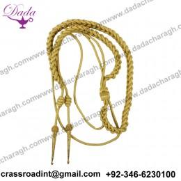 British Army Shoulder Aiguillette Army Aiguillette Golden Wire Cord