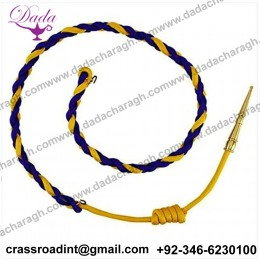 California Highway Patrol Aiguillette Royal Blue,Gold with Brass TIP