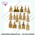 Bullion wire Tassels/Wood Beaded Tassels/Mylar Tassels